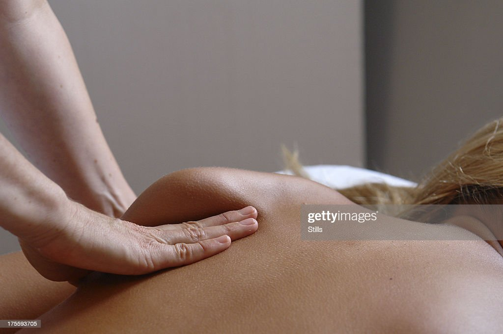 massage shoulder : Stock Photo