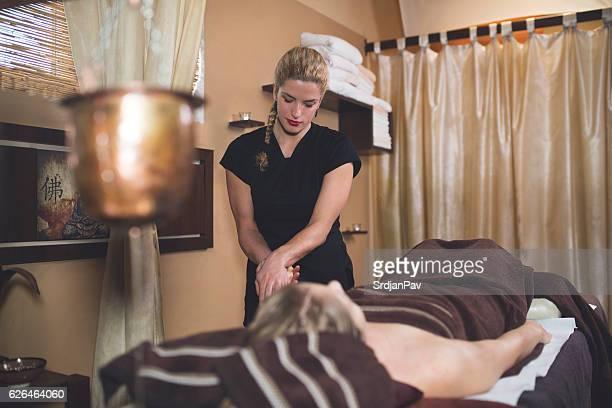 Massage Therapist At Work