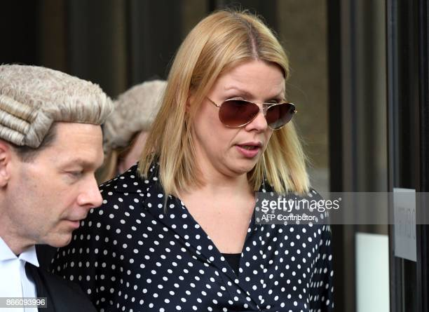 Massage therapist Leanne Russell leaves the New South Wales Supreme Court in Sydney on October 25 2017 Russell said she 'cried uncontrollably' after...