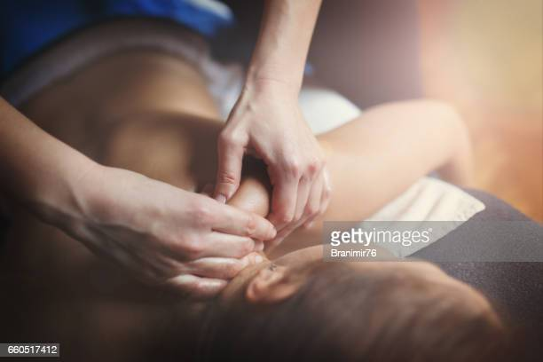 massage therapy - massage stock photos and pictures