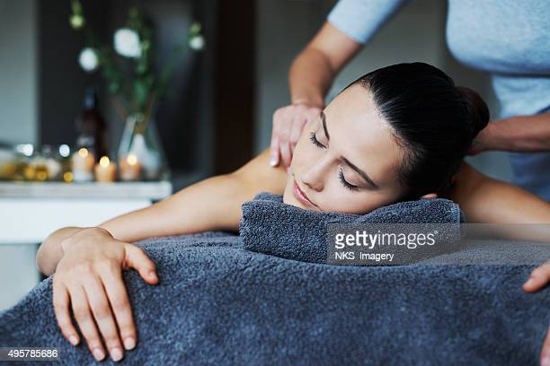 Massaging new life into her skin