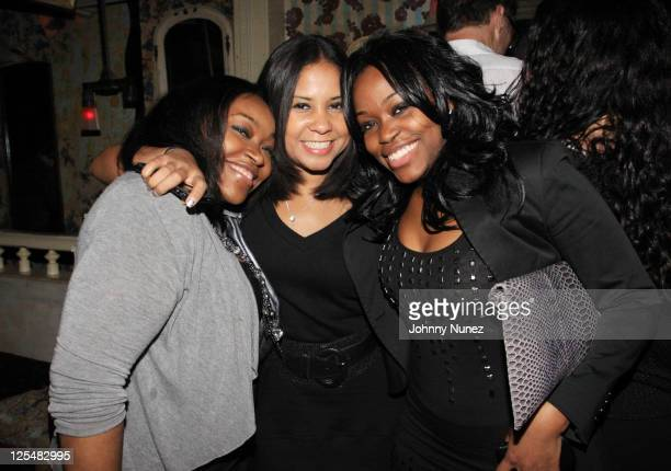 Massah David Angela Yee and Miatta David attend Experience the Turn at The Box on November 12 2010 in New York City