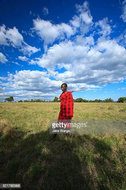 massai guide, kenya - jake warga stock pictures, royalty-free photos & images