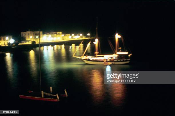 Massawa Sailboat of two masts at anchor in port of Massawa in Eritrea She was longtime the Pearl of the Red Sea Mythical city ideally situated on the...