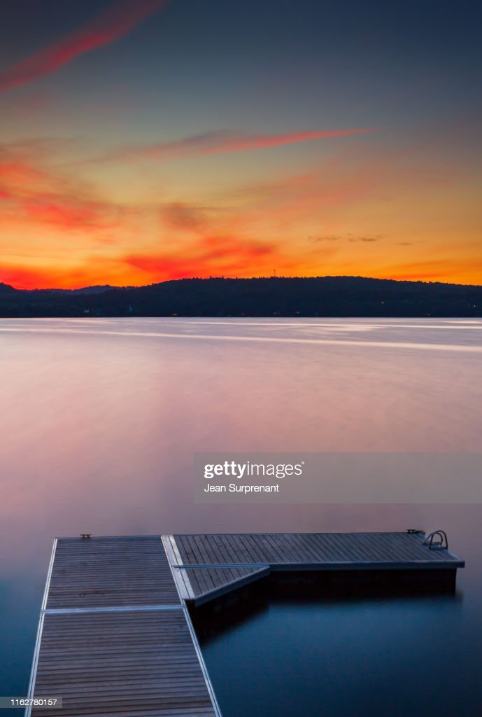 Massawippi lake  long exposure sunset DRI : Stock Photo