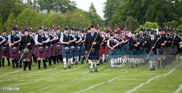 Massed Pipe Band at Aberdeen Highland Games