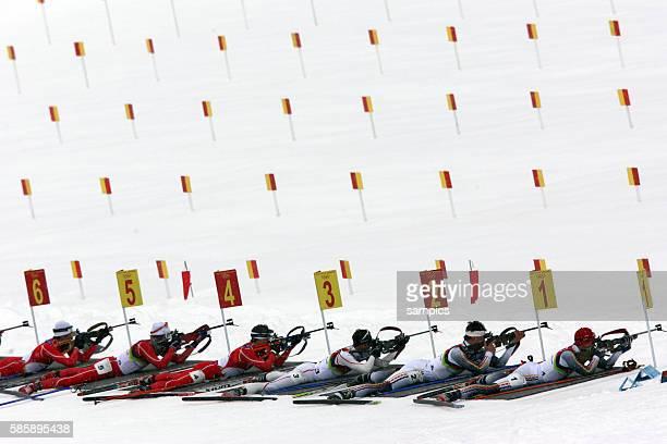 Massenstart Biathlon Herren Michael Greis olympische Winterspiele in Turin 2006 olympic winter games in torino 2006