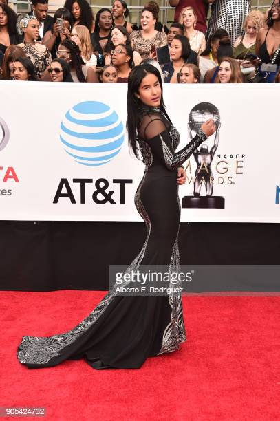 Massiel Tavares attends the 49th NAACP Image Awards at Pasadena Civic Auditorium on January 15 2018 in Pasadena California