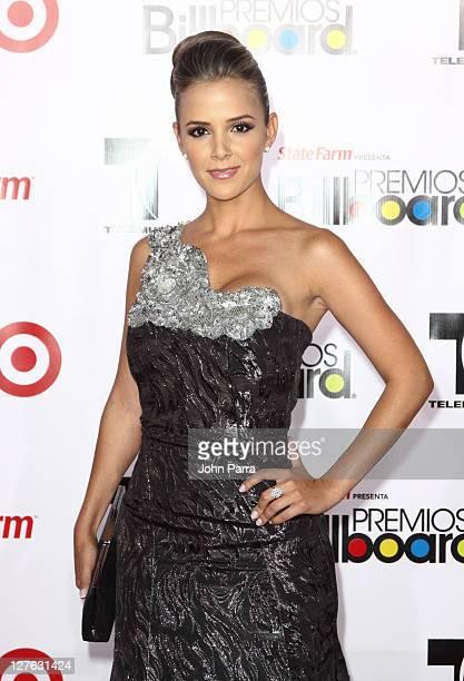 Massiel Taveras arrives at the 2011 Billboard Latin Music Awards at Bank United Center on April 28 2011 in Miami Florida