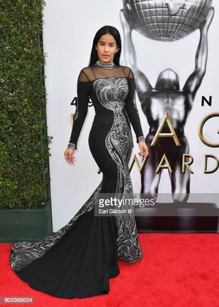 Massiel Taveras at the 49th NAACP Image Awards on January 15 2018 in Pasadena California