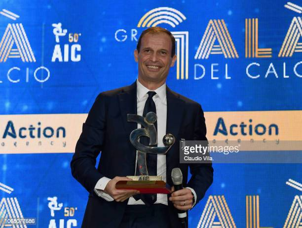 Massimiliano Allegri attends the Gran Gala Del Calcio 2018 on December 3 2018 in Milan Italy