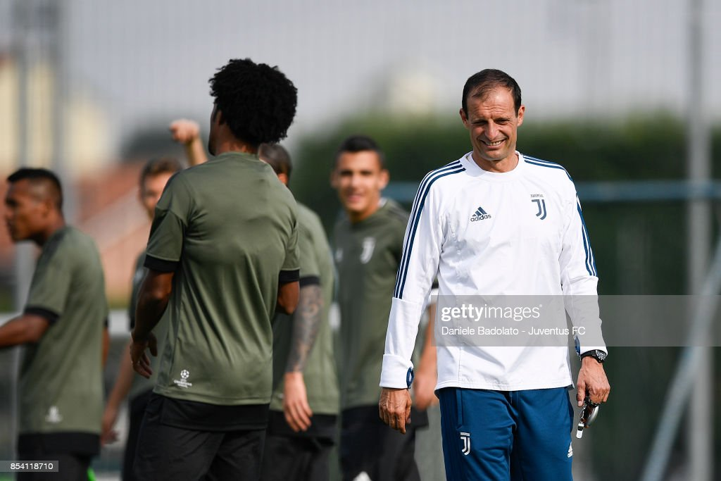 Massimiliano Allegri during a Juventus Training Session at Juventus Center Vinovo on September 26, 2017 in Vinovo, Italy.