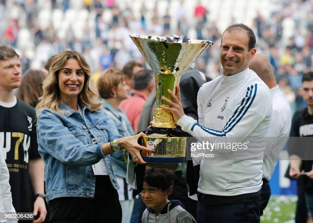 Massimiliano Allegri during serie A match between Juventus v Verona in Turin on May 19 2018