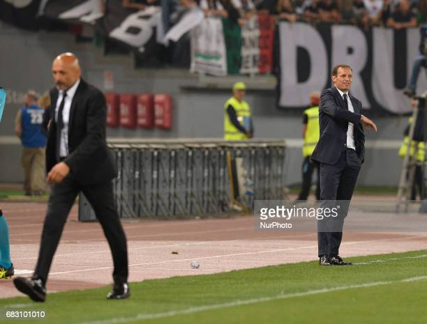 Massimiliano Allegri during the Italian Serie A football match between AS Roma and FC Juventus at the Olympic Stadium in Rome on may 14 2017