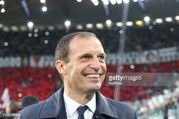 Massimiliano Allegri during the Serie A football match between Juventus FC and Atalanta BC at Allianz Stadium on May 19 2019 in Turin Italy