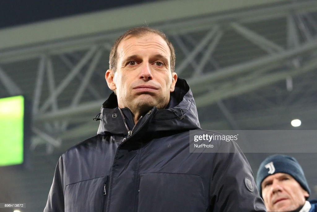 Massimiliano Allegri, head coach of Juventus FC, before the Italian Cup football match between Juventus FC and Geona CFC at Allianz Stadium on 20 December, 2017 in Turin, Italy. Juventus won 2-0 over Genoa.