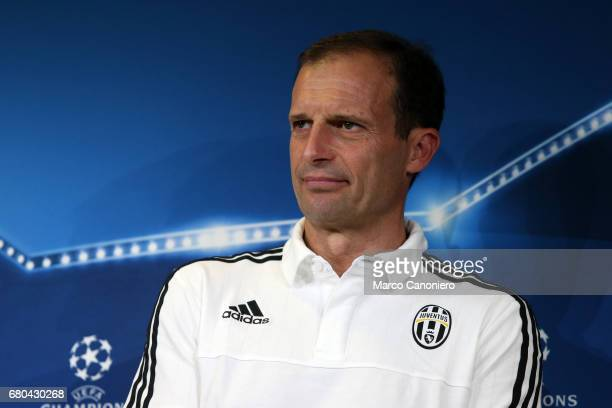 Massimiliano Allegri head coach of Juventus FC during the Juventus FC press conference on the eve of the UEFA Champions League football match between...