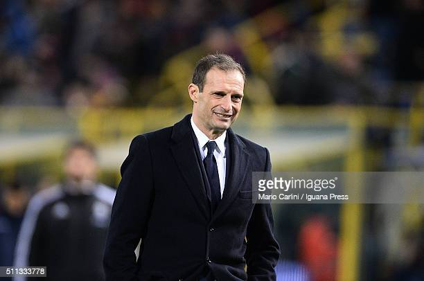 Massimiliano Allegri head coach of Juventus FC looks on at the end of the Serie A match between Bologna FC and Juventus FC at Stadio Renato Dall'Ara...