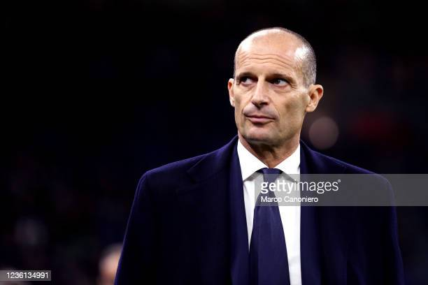 Massimiliano Allegri, head coach of Juventus Fc, looks on before the Serie A match between Fc Internazionale and Juventus Fc. The match ends in a tie...