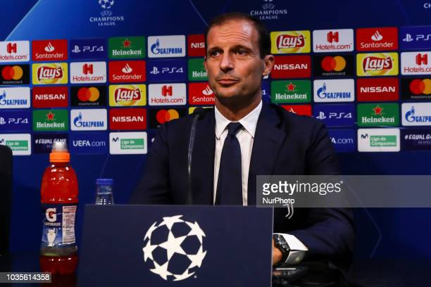 Massimiliano Allegri in press conference Before UEFA CHAMPIONS LEAGUE match between Valencia CF vs Juventus de Milan at Mestalla Stadium on September...