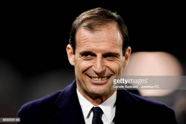 Massimiliano Allegri of Juventus during the serie A match between Spal and Juventus at Stadio Paolo Mazza on March 17 2018 in Ferrara Italy