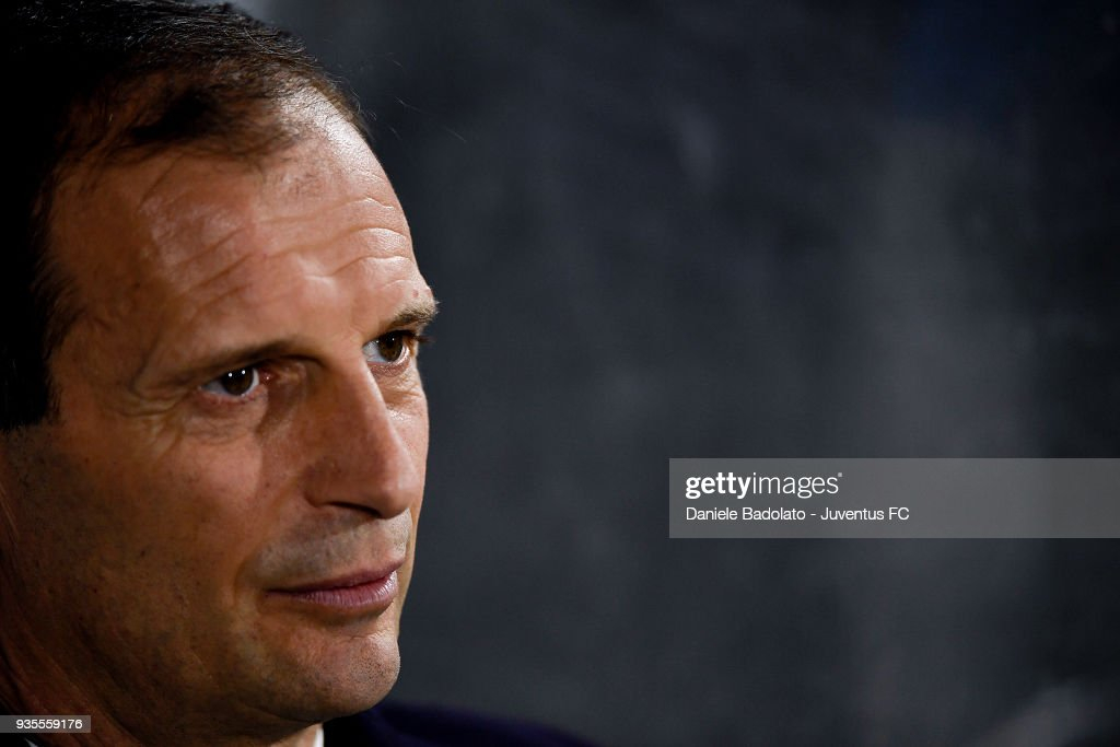 Massimiliano Allegri of Juventus during the serie A match between Spal and Juventus at Stadio Paolo Mazza on March 17, 2018 in Ferrara, Italy.