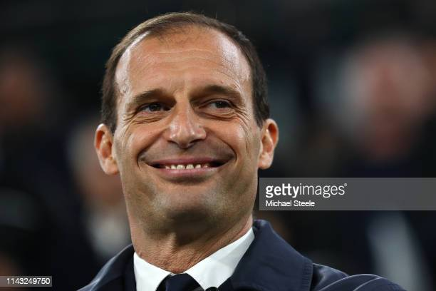 Massimiliano Allegri the coach of Juventus during the UEFA Champions League Quarter Final second leg match between Juventus and Ajax at Juventus...