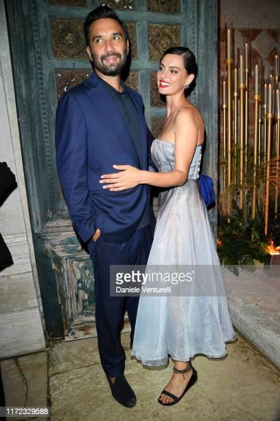 Massimiliano Di Lodovico and Catrinel Marlon attend the Chiara Ferragni Unposted party during the 76th Venice Film Festival at Palazzo Donà...