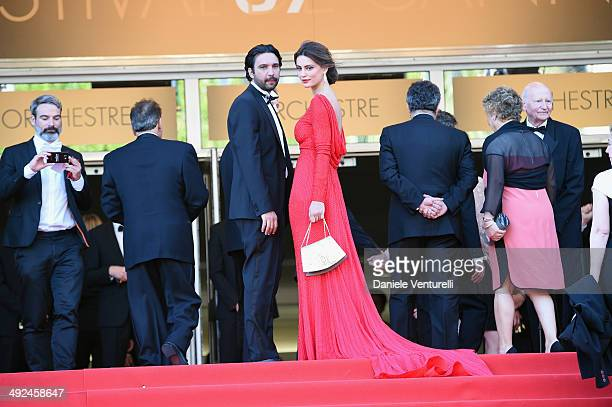 Massimiliano di Lodovico and Catrinel Marlon attend Voce Umana Premiere during the 67th Annual Cannes Film Festival on May 20 2014 in Cannes France