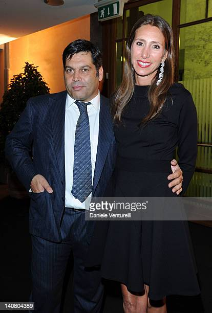 Massimiliano Ferruzzi and Alessandra Ferruzzi attend the 'Prince Albert II Of Monaco Foundation Gala Dinner' on March 6 2012 in Milan Italy