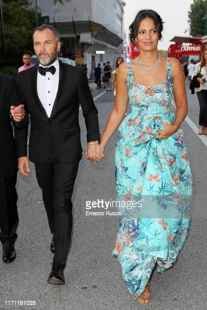 Massimiliano Gallo and Shalana Santana are seen arriving at the 76th Venice Film Festival on August 30, 2019 in Venice, Italy.