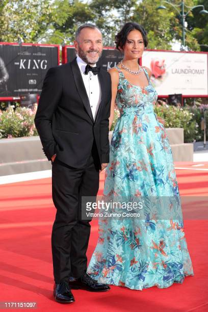 """Massimiliano Gallo and Shalana Santana walk the red carpet ahead of the """"Il Sindaco Del Rione Sanita"""" screening during during the 76th Venice Film..."""