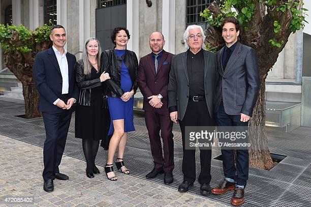 Massimiliano Gioni, Paris Murray, Cecilia Alemani, Marc Spiegler, Germano Celant and Lorenzo Bertelli attends the Fondazione Prada Opening on May 3,...