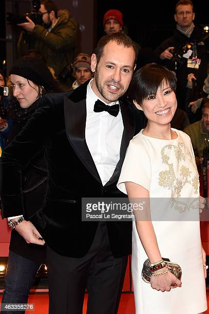 Massimiliano Giornetti and guest attends the 'Cinderella' premiere during the 65th Berlinale International Film Festival at Berlinale Palace on...