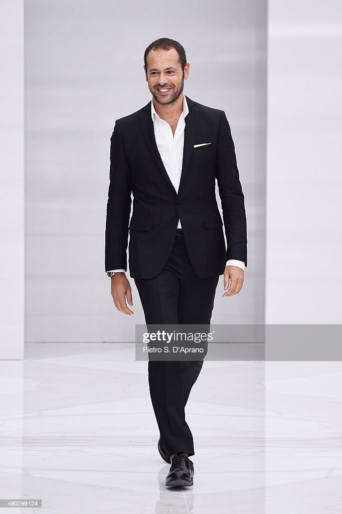 Massimiliano Giornetti walks the runway during the Salvatore Ferragamo fashion show as part of Milan Fashion Week Spring/Summer 2016 on September 27, 2015 in Milan, Italy.