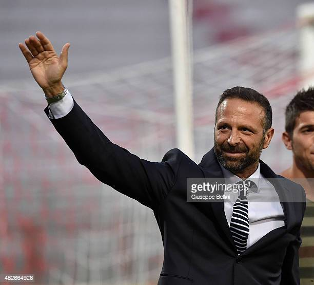 Massimiliano Santopadre President of Perugia before the pre-season friendly match between AC Perugia and Carpi FC at Stadio Renato Curi on August 1,...