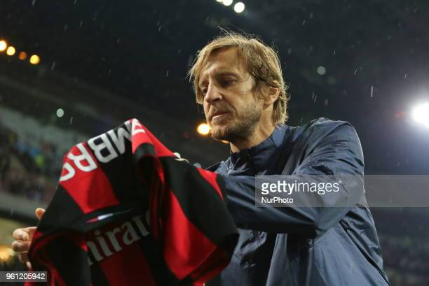 Massimo Ambrosini during quotLa partita del Maestroquot the farewell match by Andrea Pirlo at Giuseppe Meazza stadium on May 21 2018 in Milan Italy