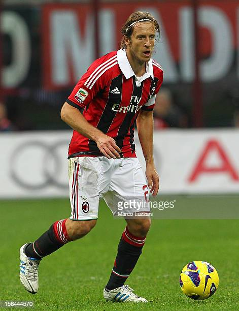Massimo Ambrosini of AC Milan in action during the Serie A match between AC Milan and ACF Fiorentina at San Siro Stadium on November 11 2012 in Milan...