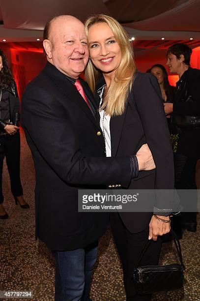 Massimo Boldi and Gloria Guida attend the Gala Dinner 'La Grande Bellezza' during the 9th Rome Film Festival on October 24 2014 in Rome Italy