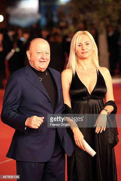 Massimo Boldi and Loredana De Nardis attend the Collateral Awards Photocall during the 9th Rome Film Festival on October 26, 2014 in Rome, Italy.