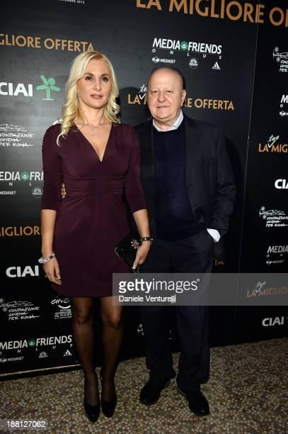 Massimo Boldi and Loredana De Nardis attend the Gala Dinner for 'La Migliore Offerta' during The 8th Rome Film Festival on November 15, 2013 in Rome,...