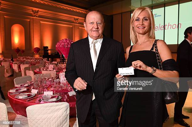 Massimo Boldi and Loredana De Nardis attend the Telethon Gala during the 10th Rome Film Fest on October 21, 2015 in Rome, Italy .