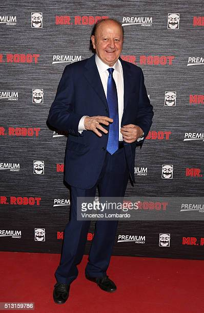 Massimo Boldi attends the 'Mr Robot' Tv Show Photocall on February 29 2016 in Milan Italy