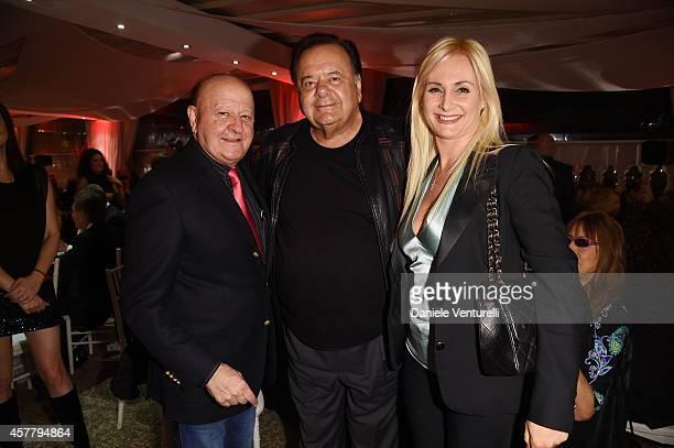 Massimo Boldi, Paul Sorvino and Loredana De Nardis attend the Gala Dinner 'La Grande Bellezza' during the 9th Rome Film Festival on October 24, 2014...