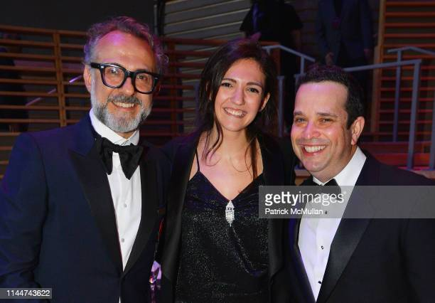 Massimo Bottura Alexa Bottura and David Rosenberg attend the Time 100 Gala 2019 at Jazz at Lincoln Center on April 23 2019 in New York City