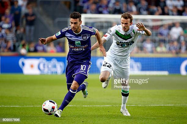 Massimo Bruno midfielder of RSC Anderlecht pictured during Croky Cup match between RSC Anderlecht and OHL on September 21 2016 in Brussels Belgium