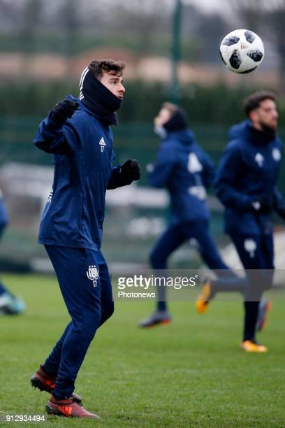 Massimo Bruno midfielder of RSC Anderlecht pictured during the closed training session of Rsc Anderlecht in Neerpede Belgium ***NEERPEDE BELGIUM...