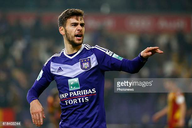 Massimo Bruno midfielder of RSC Anderlecht pictured during the Jupiler Pro League match between RSC Anderlecht and KV Mechelen on in Brussels Belgium