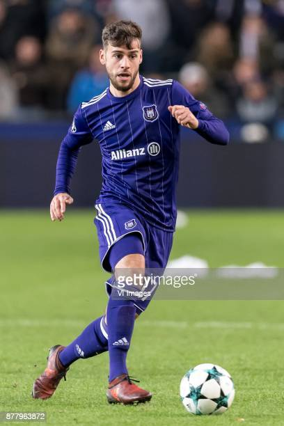 Massimo Bruno of RSC Anderlecht during the UEFA Champions League group B match between RSC Anderlecht and Bayern Muenchen on November 22 2017 at...
