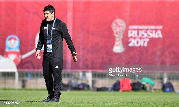 Massimo Busacca, FIFA head of Refereering gestures during training session of Video Assistant Referees on June 15, 2017 in St. Petersburg, Russia.